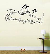 Dream Imagina Believe Mariposa Inspirador Salvavidas Frase Vinilo Pegatina Pared