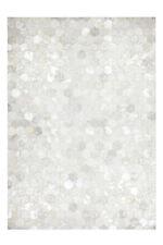 Tapis poil ras moderne cuir Tapis fait main gris /Argent
