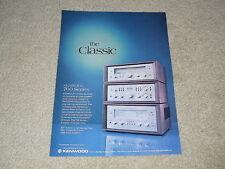 Kenwood 700 Series Ad, 1 pg, 700t, 700c, 700m,Beautiful