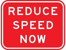 Reduzca la velocidad Auto Adhesivo Vinilo Pegatina Signo