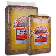 Nature's Own Golden Barley Straw Pet Food / Bedding High Fibre 2kg - 16kg Bales
