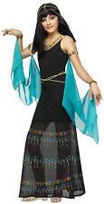 Girls Egyptian Queen Halloween Costume Cleopatra Child Goddess Black Blue New