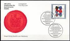 BRD 1991: Stadtrechte! FDC der Nr. 1528 mit Bonner Ersttagsstempeln! 1A! 1612