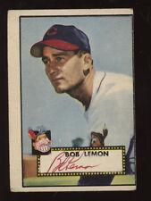 1952 Topps Baseball Card #268 Bob Lemon Autographed