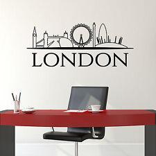 London Skyline Wall Sticker. British Cityscape Wall Art - Removable Vinyl Decal