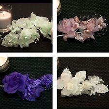 """Multi Colors Bridal Flower with Bead Loop Roses Pearls 5"""" Wedding DIY Craft"""