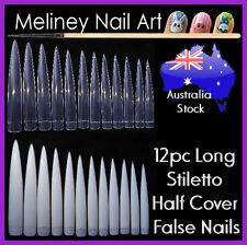 12pc Long Stiletto Claw Nail Tips False Pointy Nails Sharp Spike Gel Acrylic