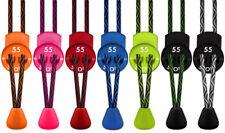 55 Sport Elastic Lock Shoelaces For Running & Triathlon - Zig Zag Pattern
