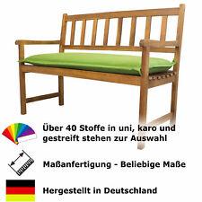 Sitzbankauflage auf Maß, Dralon, Reißverschluss, Stehsaum Breite: 100 bis 160 cm