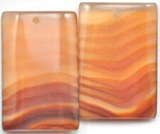 1x rectangular Ágata Colgante Gema Focal Cuentas Para Fabricación de Joyería