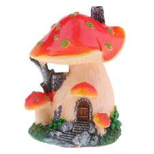Resin Mushroom House Garden Ornament Miniature Plant Pots Fairy Dollhouse