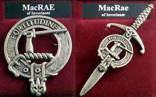 MacRae Scottish Clan Crest Pewter Badge or Kilt Pin