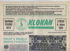 EC III 82/83 Bohemians Praga/Praha-rsc anderlecht