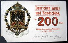 Germany~1901 DEUTSCHEN GRUSS UND HANDSCHLAG~200 JAHRE