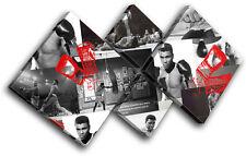 Ali Boxing Gloves  Iconic Celebrities MULTI TOILE murale ART Photo Print
