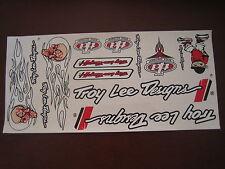 Troy Lee Designs Sticker White, Black & Red.