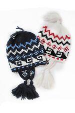 Cappello da bambino bianco blu Astrolabio pon pon junior berretto invernale moda