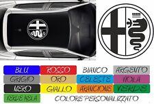 ADESIVO TETTO ALFA ROMEO RACING GIULIETTA MITO 147 156 STICKERS CAR AUTO COD164