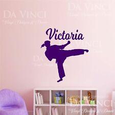 Karate Martial Arts Wall Room Personalized Custom Name Girl Vinyl Sticker C