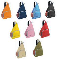 Zainetto monospalla nylon 600D + tasca e porta cellulare  33x40x12  9 colori