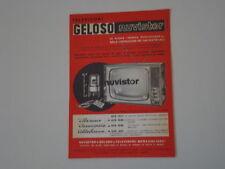 advertising Pubblicità 1963 TELEVISORE GELOSO NUVISTOR