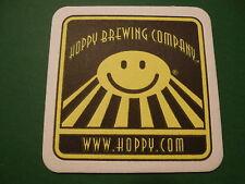 Beer Coaster ~ HOPPY Micro Brewery Company, Sacramento, CALIFORNIA ~ Breweriana