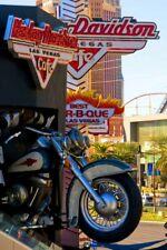 Harley Davidson Motorbike Cafe Las Vegas America USA Photograph Print