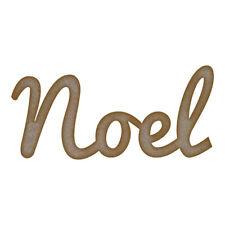 Noel palabra Mdf Corte Láser Craft Blanks En Varios Tamaños