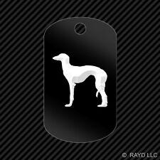 Saluki Keychain Gi dog tag engraved many colors dog canine pet