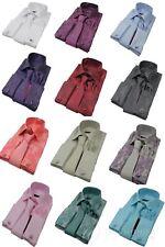 Mens Paisley Shirt Satin Silk Tie Cuff Links & Handkie Box Set 13 Colours !