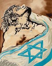 SALVADOR DALI Premium Canvas Print ALIYAH The Rebirth of Israel