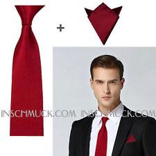 F19 2 Pièces Homme Cravate avec 8 cm large+Pochette de costume Business Mariage