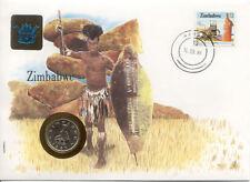 superbe enveloppe ZIMBABWE RHODESIE pièce monnaie