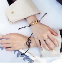 COUPLE Love Fashion Handmake Knit Handcuffs Shape Bangle Infinity Bracelet Each