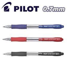 12 X Pilot Super Grip ball point pen BPGP-10R-F Fine 0.7mm Retractable