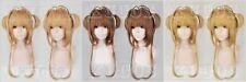 Cardcaptor Sakura Kinomoto Sakura costume Cosplay hair wig 3 version +wig Cap
