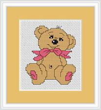 Baby Bear Cross Stitch Kit By Luca S Ideal For Beginner 7.8cm x 5cm