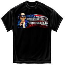 Uncle Sam Pack Your Bags Gildan T-Shirt - PreShrunk Cotton - 6 Sizes