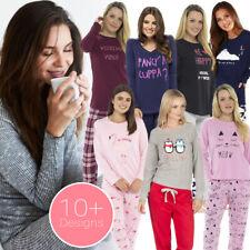 Ladies Girls Cotton Pyjamas Long Sleeve Top Nightwear Character Pyjama Set UK