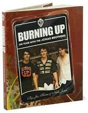 BURNING UP JONAS BROTHERS HARD BACK BOOK POP-ROCK GROUP