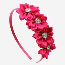 1 Accessori per capelli con fiore in nastro a fascia per bambina 9caae1ebdd47