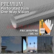 *Premium Black Perforated One Way Vision Print Media Vinyl Window Sticker Film