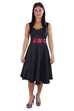 50's Little black satin Dress wide Burgundy satin sash - burgundy sash bridal
