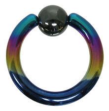 {PiA} Klemmkugelring BCR 3,0 mm aus G23 Titan in bunt Piercingring Intimpiercing