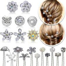 Set Haarnadeln Hochzeit Haarnadeln Curlies Perlen Blume Strass Haarspange Frisur