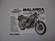 advertising Pubblicità 1975 MOTO MALANCA 125 E2C SPORT