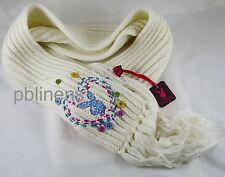 BNWT PLAYBOY Knit Bufanda Blanco Comprar Ahora!!! bufanda a juego en Tienda sólo 1!!!