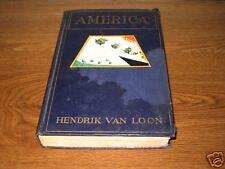 AMERICA Hendrik Van Loon First 1st Edition Ed 1927