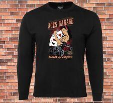 JB's Long Sleeve T-shirt Aces Garage Cool Retro Hot Rod Design