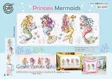 """Princess Mermaids"" cross stitch chart or kit SO-G107 sodastitch"